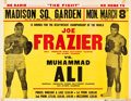 Boxing Collectibles:Memorabilia, 1971 Muhammad Ali vs. Joe Frazier I On-Site Boxing Poster....