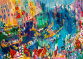 Illustration, LeRoy Neiman (American, 1921-2012). Regatta of theGondoliers. Oil on board. 30 x 40-1/2 inches (76.2 x 102.9 cm)....