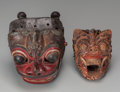 Tribal Art, Two Masks, Bali... (Total: 2 Items)