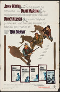 "Movie Posters:Western, Rio Bravo (Warner Brothers, 1959). One Sheet (27"" X 41""). Western....."