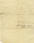 Military & Patriotic:Civil War, Lee's Army of Northern Virginia Horse Appraisal Autograph Document....