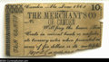 Obsoletes By State:Alabama, Camden, AL- The Merchant's Co. of Camden 10¢ June, 1862 ...