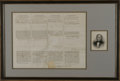 Autographs:U.S. Presidents, Rare Zachary Taylor Signed Whaling Ship's Document, Dated 20 Days After His Death! Zachary Taylor Signed Four Language Shi...