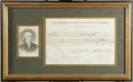 "Autographs:U.S. Presidents, James Madison Document Signed. One page U.S. Army commission, 13.0"" x 8.5"", Washington, D.C., January 31, 1813. Partially p..."