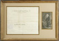 "Autographs:U.S. Presidents, James Buchanan Document Signed. One page, 13.5"" x 12.0"", Washington, D.C., September 10, 1857. This partially printed docum..."