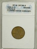 1909-S 1C --Cleaned, Edge Damaged--XF45 ANACS. XF45 Details. NGC Census: (35/199). PCGS Population (75/244). Mintage: 1...