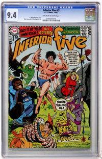 The Inferior Five #3 (DC, 1967) CGC NM 9.4 Off-white to white pages