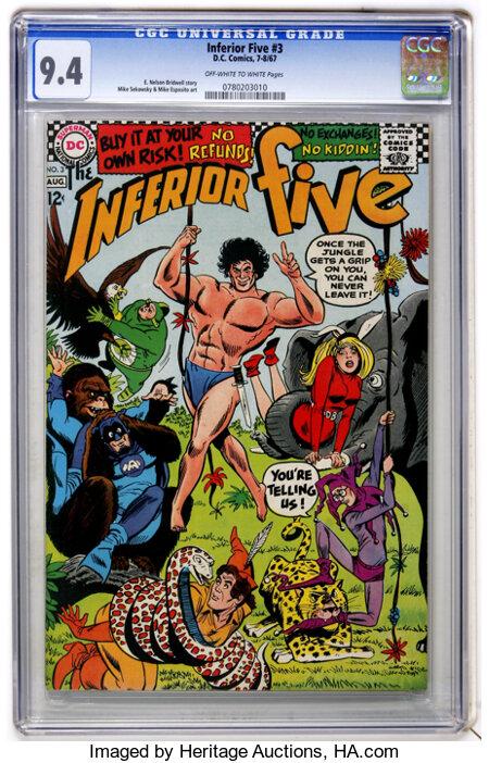 The Inferior Five #3 (DC, 1967) CGC NM 9.4 Off-white to white pages....