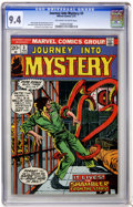Bronze Age (1970-1979):Horror, Journey Into Mystery #3 (Marvel, 1973) CGC NM 9.4 Off-white towhite pages....