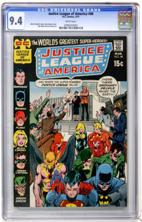 Justice League of America #88 (DC, 1971) CGC NM 9.4 White pages