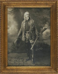 "Autographs:Celebrities, William ""Buffalo Bill"" Cody Inscribed and Signed Photograph. Blackand white photograph, 6.75"" x 9.5"", np, January 21, 191..."