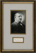 "Autographs:U.S. Presidents, Grover Cleveland Signature as President ""Grover Cleveland March18, 1887"" on a sheet or card 3.25"" x 1.375"". Cleveland w..."