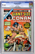 Bronze Age (1970-1979):Miscellaneous, Giant-Size Conan #3 (Marvel, 1975) CGC NM 9.4 White pages....
