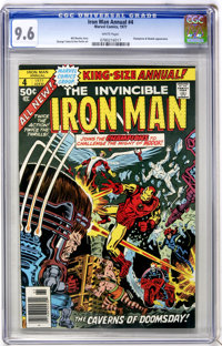 Iron Man Annual #4 (Marvel, 1977) CGC NM+ 9.6 White pages