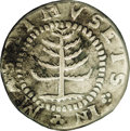 Colonials: , 1652 SHILNG Pine Tree Shilling, Small Planchet--Environmental Damage, Improperly Cleaned--NCS. V...