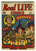 Golden Age (1938-1955):Non-Fiction, Real Life Comics #21 (Nedor Publications, 1945) Condition: FN. AlexSchomburg cover. Overstreet 2005 FN 6.0 value = $33....