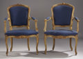 Furniture , An Assorted Group of Louis XV Style Painted Fauteuils. ...
