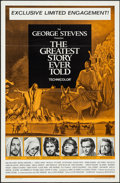"Movie Posters:Drama, The Greatest Story Ever Told (United Artists, 1965). One Sheet (27"" X 41"") and Cut Pressbook (10 Pages, 11"" X 15""). Drama.. ... (Total: 2 Items)"