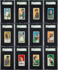 Baseball Cards:Lots, 1909-11 T206 Sovereign 150/350/460 SGC Graded Collection (28). ...