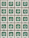 Football Cards:Sets, 1969 Green Bay Packers Drenks Potato Chips Pinbacks Complete Set (20). ...