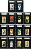 Baseball Cards:Lots, 1909-11 T206 Sovereign 350/460 SGC 60 EX 5 Collection (14). ...