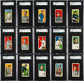 Baseball Cards:Lots, 1909-11 T206 Sovereign 350 SGC Graded 60 EX 5 Collection (15). ...