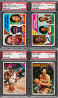 Basketball Cards:Lots, 1975 Topps Basketball PSA Gem Mint 10 Lot (9). ...