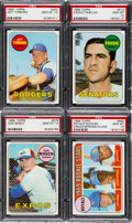 Baseball Cards:Lots, 1969 Topps Baseball PSA Gem Mint 10 Lot (4) - All Pop Two! ...