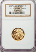 Modern Issues, 1987-W G$5 Constitution Gold Five Dollar PR70 Ultra Cameo NGC. NGC Census: (8287). PCGS Population (1874). Mintage: 651,659...