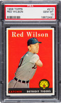 Baseball Cards:Singles (1950-1959), 1958 Topps Red Wilson #213 PSA Gem Mint 10 - Pop One!...