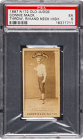 Baseball Cards:Singles (Pre-1930), 1887 N172 Old Judge Connie Mack (#285-1) PSA EX 5 - The Finest PSAExample of This Pose. ...