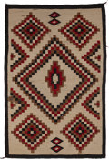 American Indian Art:Weavings, A Navajo Regional Rug. c. 1940. ...