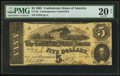 Confederate Notes:1862 Issues, CT53/382 Counterfeit $5 1862.. ...
