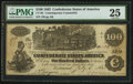 Confederate Notes:1862 Issues, CT39/290 Counterfeit $100 1862.. ...