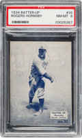 Baseball Cards:Singles (1930-1939), 1934-36 R318 Batter-Up Rogers Hornsby #35 PSA NM-MT 8 - Pop Two, None Higher. ...
