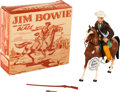 Non-Sport Cards:Other, Vintage Hartland - Jim Bowie & Blaze With Name Tag & RetailBox. ...