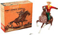 """Non-Sport Cards:Other, Vintage Hartland - """"Buffalo Bill, Pony Express Rider"""" With Box! ..."""