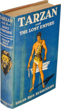 Books:Fiction, Edgar Rice Burroughs. Tarzan and the Lost Empire. New York: Metropolitan Books, [1929]. First edition. ...