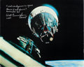 Explorers:Space Exploration, Gemini 6A and Gemini 7 Rendezvous Large Color Photo Signed by WaltCunningham and Originally from His Personal Collection. ...