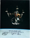 Explorers:Space Exploration, Apollo 9 LM Spider Large Color Photo Signed by Rusty Schweickart and Walt Cunningham, from Cunningham's Personal C...
