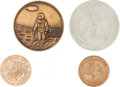 Explorers:Space Exploration, Apollo Medals (Four) from the Gene Cernan Family Collection....(Total: 4 Items)