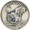 Explorers:Space Exploration, Apollo 11 Flown Silver Robbins Medallion, Serial Number 125, Originally from the Personal Collection of Astronaut Gene Cernan,...