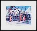 Autographs:Celebrities, Mercury Seven Astronauts: Color Photo Signed by Six (MissingGrissom) in Framed Display....