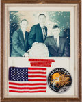 Explorers:Space Exploration, Apollo 13 Flown American Flag and Flown Embroidered MissionInsignia Patch with Crew-Signed Photo in Framed Display, withMiss... (Total: 2 Items)