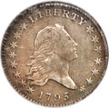 Early Half Dollars, 1795 50C 2 Leaves, O-116, T-11, R.4 -- Repaired, Improperly Cleaned-- NCS. XF Details....