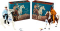 """Non-Sport Cards:Other, Vintage Hartland - """"Lone Ranger"""" and """"Tonto"""" Boxed Pair. ..."""