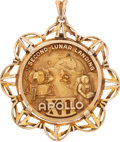 Explorers:Space Exploration, Apollo 12 Sterling Silver High-Relief Balfour Medal in DecorativeBezel from the Alan Bean Family Collection. ...