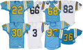 Football Collectibles:Uniforms, 1970s throughout 1990s UCLA Bruins Game Worn Jerseys Lot of 8 - Kindler Collection....