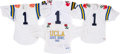 """Football Collectibles:Uniforms, 1980s and 1990s UCLA Bruins """"No. 1"""" Jerseys Lot of 4 - Kindler Collection. ..."""
