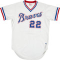 Baseball Collectibles:Uniforms, 1986 Ken Griffey Sr. Game Worn Atlanta Braves Jersey. ...